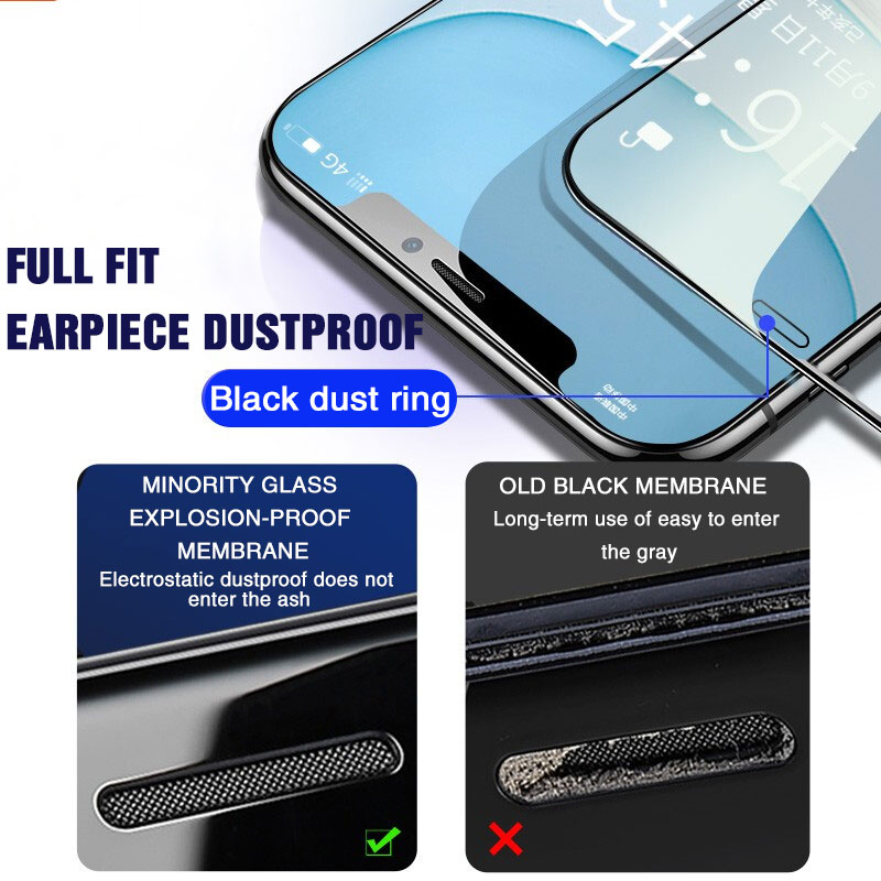 Image 5 - Protective Tempered Glass For iPhone 11 Pro Max Xs Max Xr X 7 8 6 6S Plus 11 Full Cover Screen Protector Glass on iPhone 11 Pro-in Phone Screen Protectors from Cellphones & Telecommunications