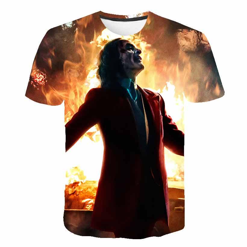 3D Printed T Shirt Men Joker Face Casual O-neck Male tshirt Clown Short Sleeve Funny T Shirts 2019 summer street style
