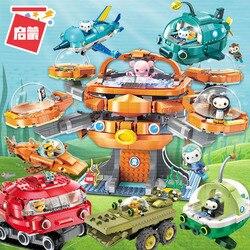 Octonauts строительный блок Octo-Pod Octopod Playset & Barnacles kwazii песо Inkling 698 шт Образовательные Кирпичи Игрушка для Бо