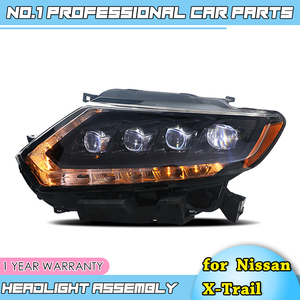 Image 4 - car accessories for Nissan X Trail Headlights 2014 17 Nissan X Trail LED Headlight DRL Lens Double Beam