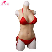 Eyung Silicone body crosscommode glisser reine triangulaire vagin hanche rehausseur Silicone seins maillot de bain faux seins formes seins(China)