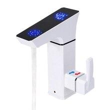 Дизайн 3000 Вт светодиодный дисплей температуры мгновенный проточный горячий кран кухонный Душ Электрический кран нагреватель горячей воды
