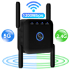 5g WiFi Repeater Router Signal Wifi Amplifier Wifi Extender 1200Mbps Wi fi Booster 2.4G 5 Ghz Long Range Wireless Repeater Wifi