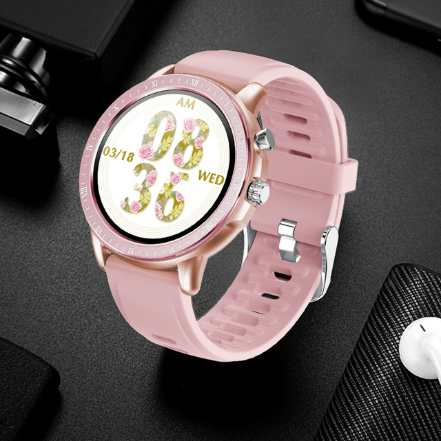 COBRAFLY S02 Smart Watch Women Bracelet 1.3 Inch Full Round Screen Heart Rate Monitoring IP67 Waterproof Ladies Fitness Watches