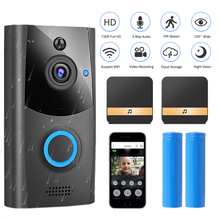 WIFI Doorbell Smart Wireless Video Doorbell Intercom Waterproof Security Outdoor Door Phone Camera 720P HD Home Monitor PIR cheap HISMAHO Dry battery Color WIFI Doorbell Camera Support A powerful high-performance programmable media HiSilicon processor w