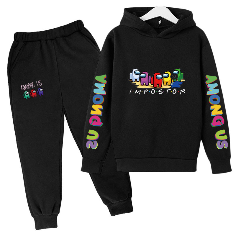 4-14 Y Girls Clothing Among Us Sets Autumn Winter Boys Girls Clothes Printing Outfit Kids Print Tracksuit For Boys Children Set 3