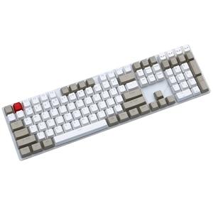 Image 2 - Grigio bianco 87/104 tasti keycap PBT retroilluminato a doppio scatto profilo OEM interruttore MX per cherry/NOPPOO/Flick/Ikbc vendi solo portachiavi