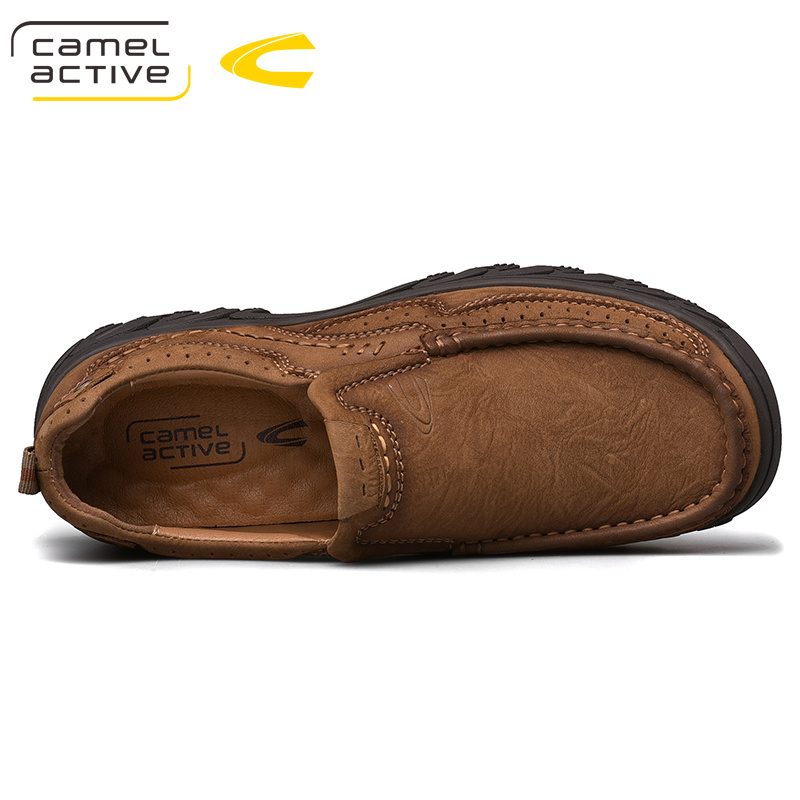 Image 4 - Camel Active New Genuine Leather Men Shoes England Trend Male  Footwear Mens Casual Shoes Outdoors Short Boots Man Work ShoesOxfords