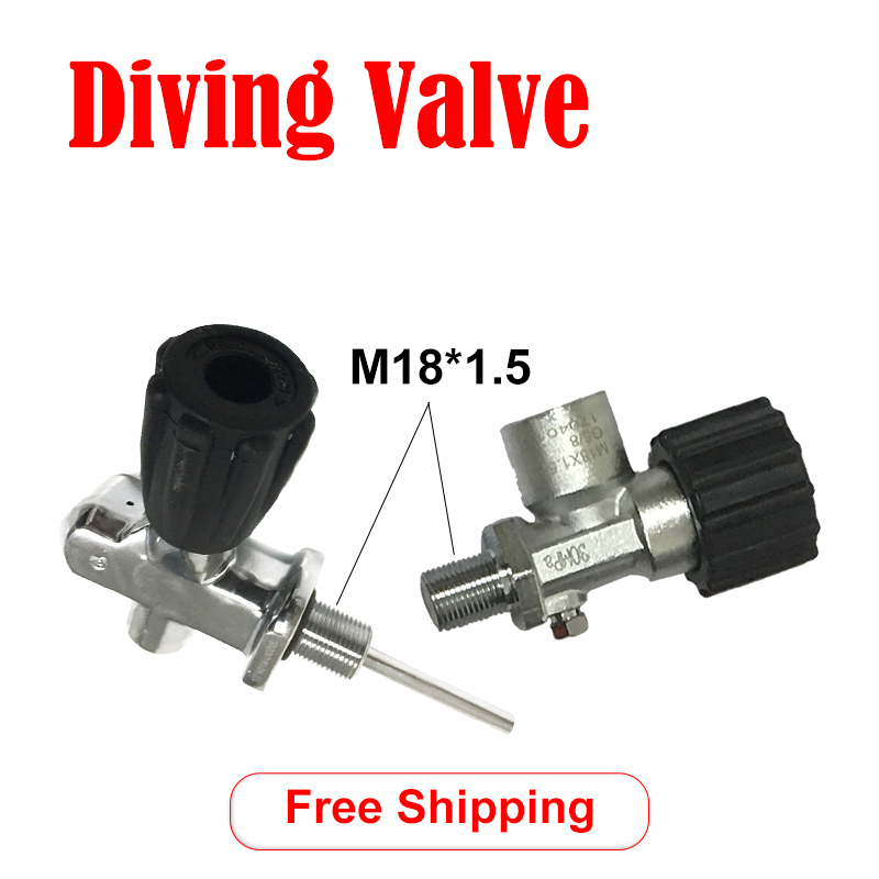Acecare Pcp Paintball Tank Din Valve Diving Valves M18*1.5 For Pcp Air Rifles Cylinder/CE Tank 30Mpa/4500Psi Valve Pcp