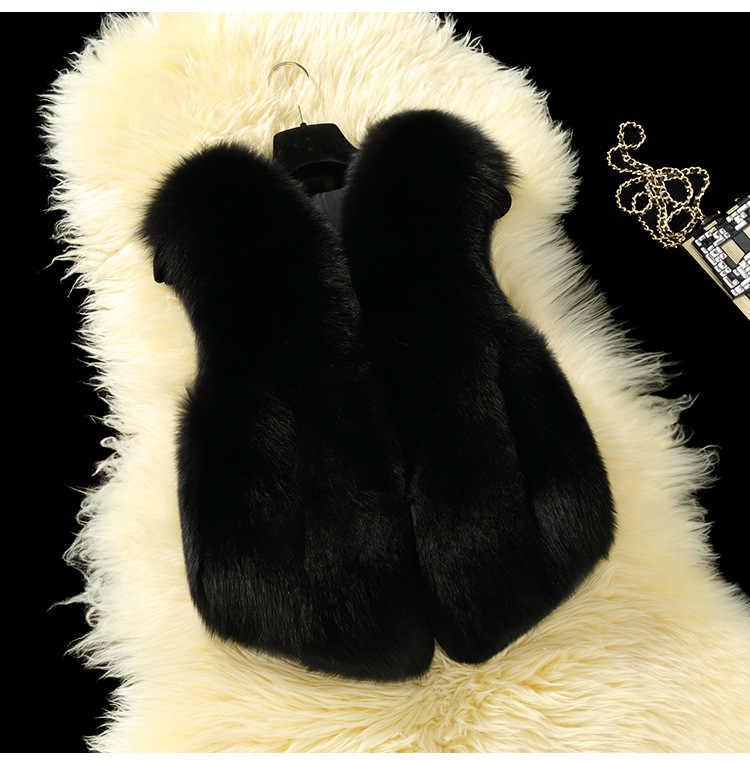 Sonbahar ve kış yeni stil çocuk ceket çocuk kürk yelek kızlar Faux Fox kürk yelek kürk yelek bebek pamuk yastıklı giysiler