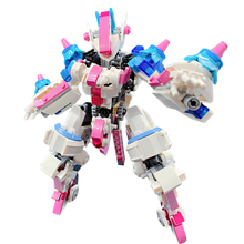 moc upgraded electric motor power toys compatible brands high tech mp5 submachine gun model building block diy brick boys gifts 520Pcs Battle Mecha DIY Building Block MOC Small Particle Set Compatible With Figures Block Assembly Toys For Boys Gifts - Pink
