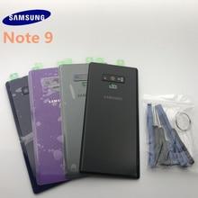 Oryginalna nowa Samsung Galaxy Note 9 N960 tylna pokrywa baterii 3D szklana obudowa pokrywa dla Samsung Note9 drzwi tylna obudowa z narzędziami