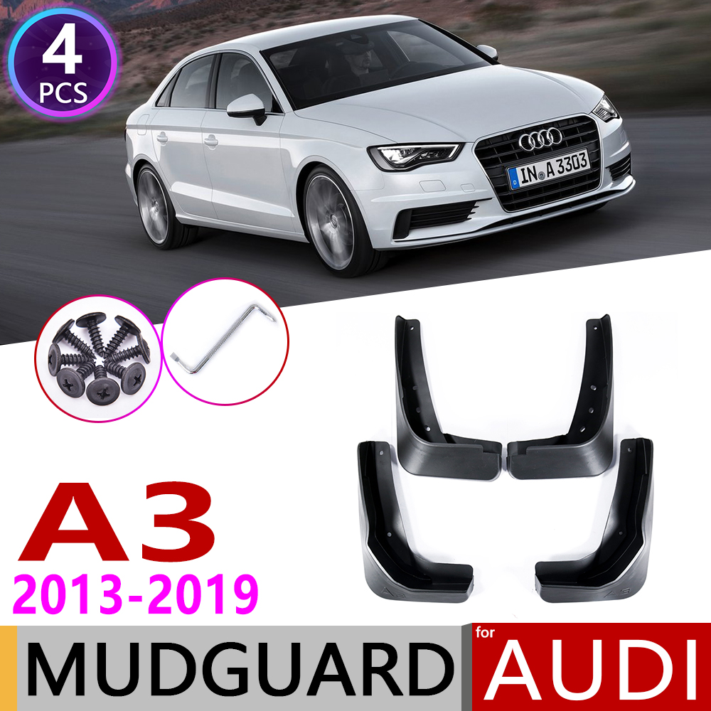Car Mudflap for Audi A3 Sedan Saloon 2013~2019 Fender Mud Guard Flap Splash Flaps Mudguards Accessories 2014 2015 2016 2017 2018 image