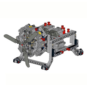 NEUE Heiße! MOC Serie 8-Zylinder Radiale Aircraft Engine Power funktionen MOC Bausteine Ziegel DIY Modelle Besten Kinder Geschenke