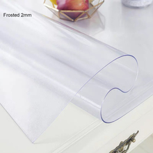 Thick 2mm PVC Frosted Tablecloth Matte Waterproof Table Cover Oil proof Soft Glass Protect kitchen Dinning Table High Quality