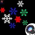 Открытый Рождественский светодиодный прожектор романтические белые снежинки проекторы Рождественские огни снежный узор проекционная лам...