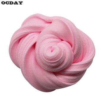 DIY Color sólido 3D esponjoso espuma arcilla Slime DIY suave algodón pelota de Baba Kit niños manualidades educativo barro juguete Anti estrés niños Juguetes