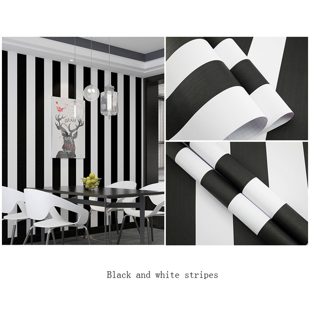 Striped Wallpaper Diy For Living Room Bedroom Wall Black White Checkered Home Decor Sticker Kitchen Self Adhesive Roll Wallpapers Aliexpress