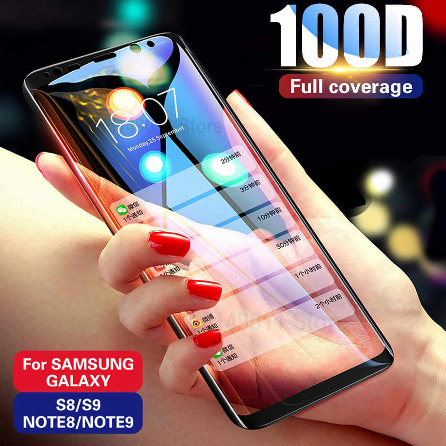 100D Full Curved Edge Tempered Glass For Samsung Galaxy S10E S7 S6 Edge S8 S9 S10 Plus Screen Protector 9H Protective Glass Film