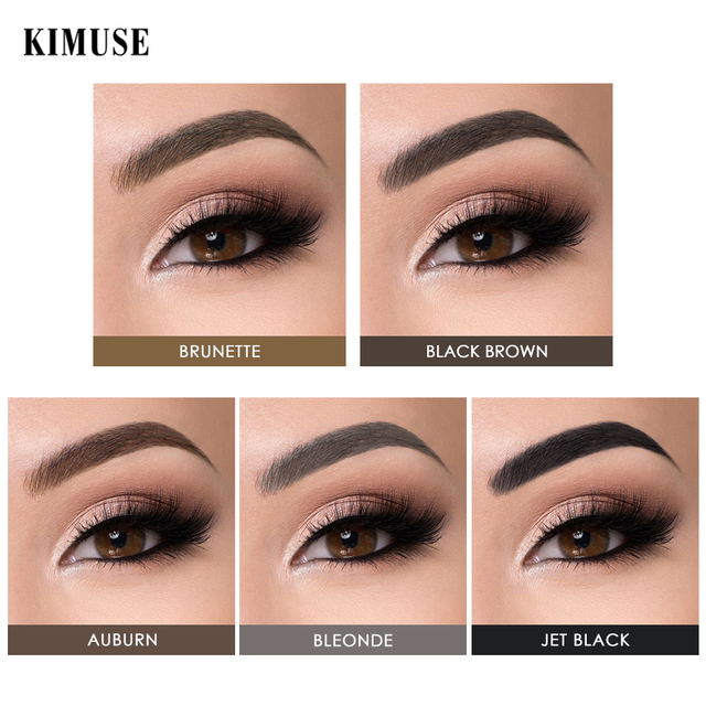KIMUSE Eyebrow Gel Dye Waterproof Eyebrow Shasow Eyebrow Tint Eye Makeup Eyebrow Pencil Long Lasting Cosmetic Eyebrow Enhancer 1