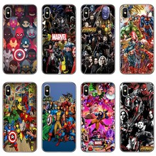 cool Marvel Superhero Accessories phone case For Xiaomi Redmi S2 6 6A 5 plus 5A 4X 4A 3 Note 6 5A 5 pro 4 3 2(China)