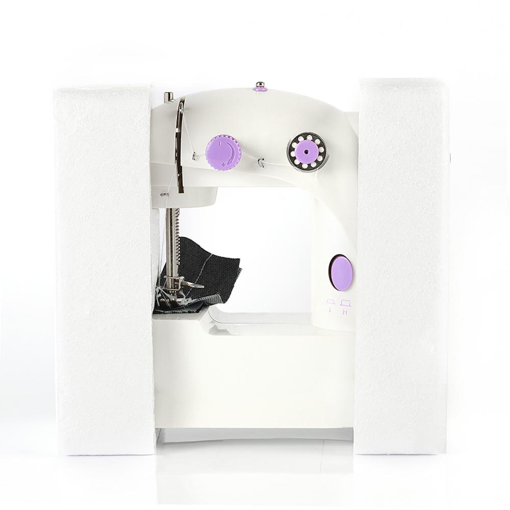 Image 4 - Electric Mini Sewing Machine Handheld Pedal Machine To Sew Speed Adjustment Double Thread Multifunction Electric Sewing MachineSewing Machines   -
