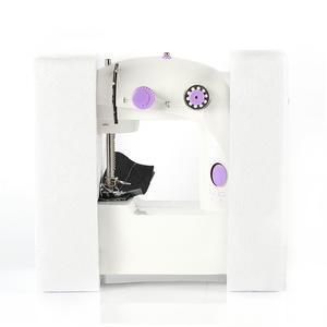 Image 4 - Mini máquina de coser eléctrica manual máquina a pedales para coser ajuste de velocidad rosca doble máquina de coser eléctrica multifunción