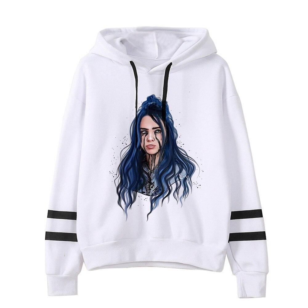 Billie Eilish Hoodies Men/women Funny Hip Hop Fashion Kawaii Sweatshirt Graphic Harajuku 90s Tumblr Hooded Streetwear Male