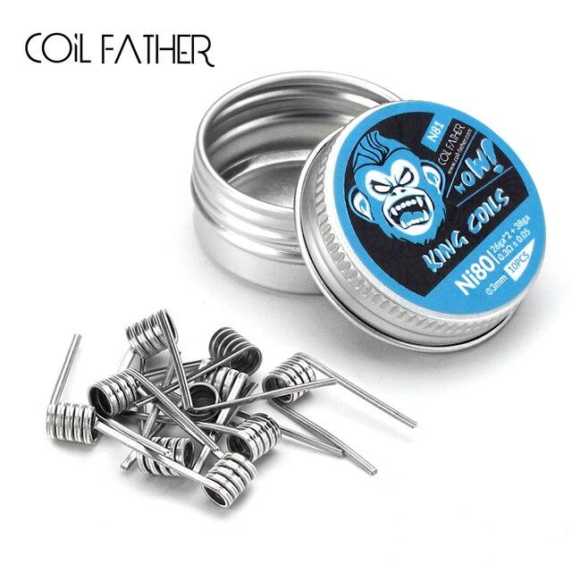 Coil Father Alien Coil King Ni80 Fused Clapton Ni90 Stagger Wire Prebuilt Coils Heat Resistance Electronic Cigarette