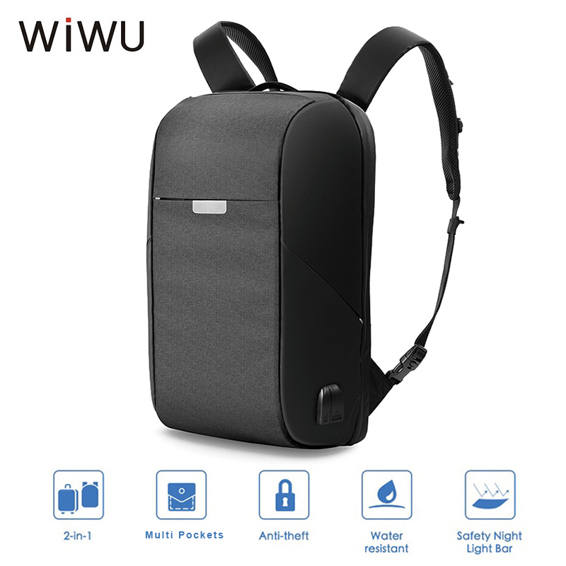 WIWU Onepack 15 6 inch USB Charge Laptop Backpack For Men Storage Pouch Bag Waterproof Large