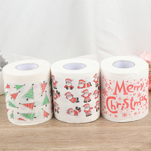 3 стиля мультфильм туалет орнамент рулон бумаги домашний декор для кухни Рождество фестиваль вечерние гостиная печати принадлежности для ванной ткани