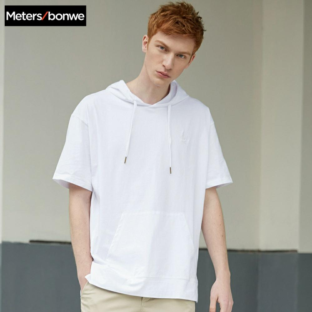 Metersbonwe Couple Hoodies For Men and Women Casual New short-sleeved pullover men's Women's street Hoodies
