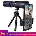 Телескоп Tongdaytech 10-300x40 мм, монокулярный телескоп со штативом, зум-объектив для камеры телефона Iphone, Samsung, Xiaomi, фото-и видеосъемка