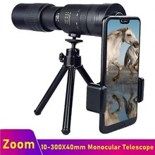 Tongdaytech 10-300X40mm Telephoto Monocular Telescope With Tripod Zoom Phone Camera Lens For Iphone Samsung Xiaomi Photo Vedio