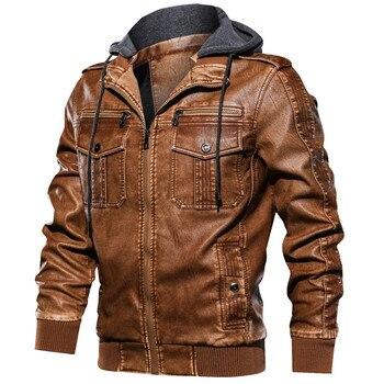 Fashion Streetwear Men's Autumn Winter Stand Collar jacket Vintage Zipper Hoodie Pure Color Imitatio