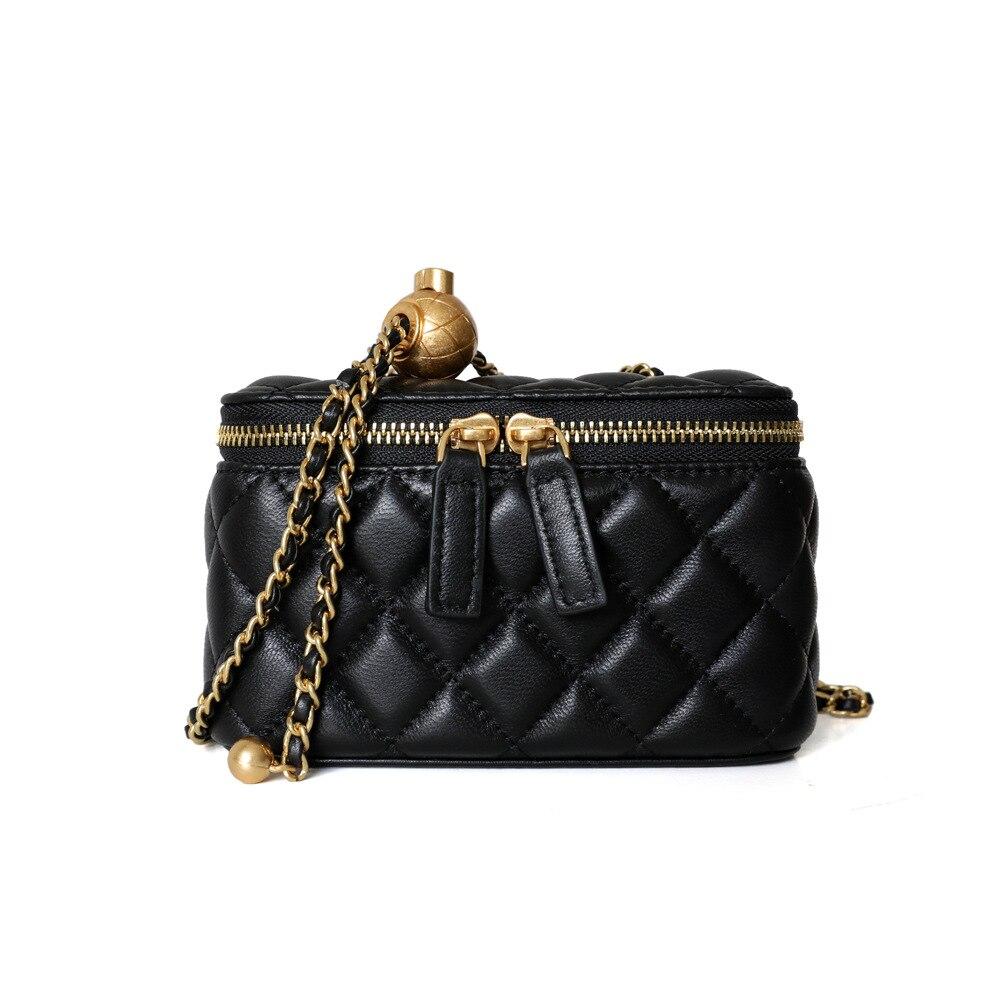 Женские трендовые сумки 2020, роскошные сумки, женские сумки, дизайнерская черная Маленькая дамская сумка через плечо из натуральной овечьей ...