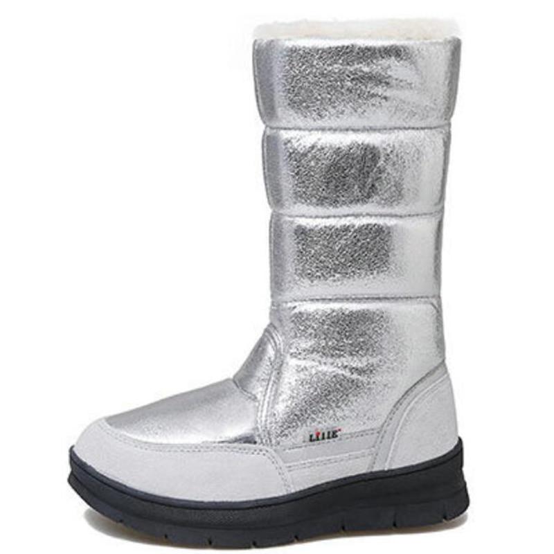 Зимние ботинки в европейском стиле; женские теплые плюшевые зимние ботинки; ботинки на платформе; модные женские ботинки с блестками для катания на лыжах; dd349