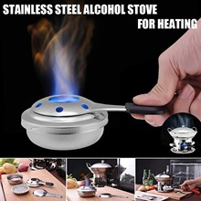 Alcohol Stove Stainless-Steel Kitchen Equipment Burner Paste Mini Portable T-Camping