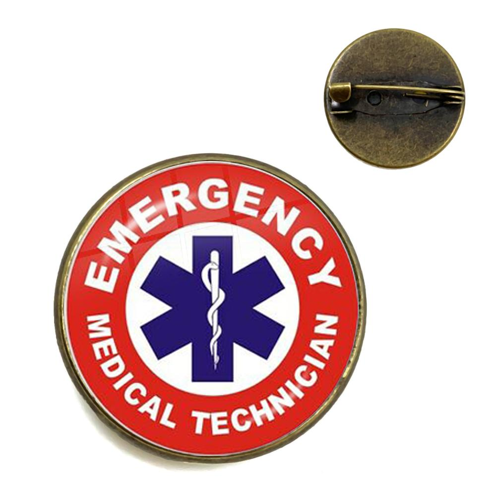 Emt Medical Symbol Brooches Emergency Medical Technician Quote