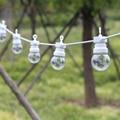 13m LED globus Girlande string licht fee hochzeit im freien garten party Terrasse decor string licht weiß draht für hängen camping-in Lichterketten aus Licht & Beleuchtung bei