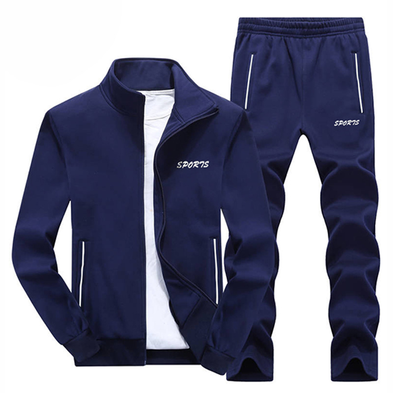 Men's Sports Suit Running Set Men Jogging Tracksuit New Set Casual Mens 2 Piece Sets Gyms Fitness Suit Male Jacket + Pants