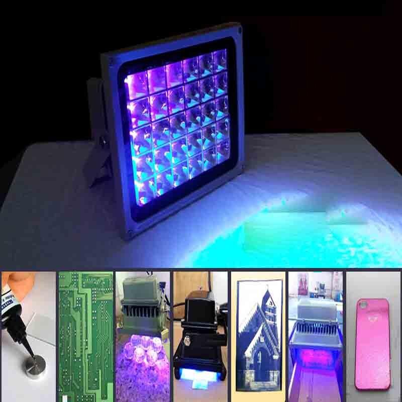 UV curing โคมไฟ LED UV เงาโคมไฟ 365nm 395nm 405nm พิมพ์แสงธนบัตรโทรศัพท์มือถือหน้าจอแก้ว Bonding น้ำมันสีเขียว