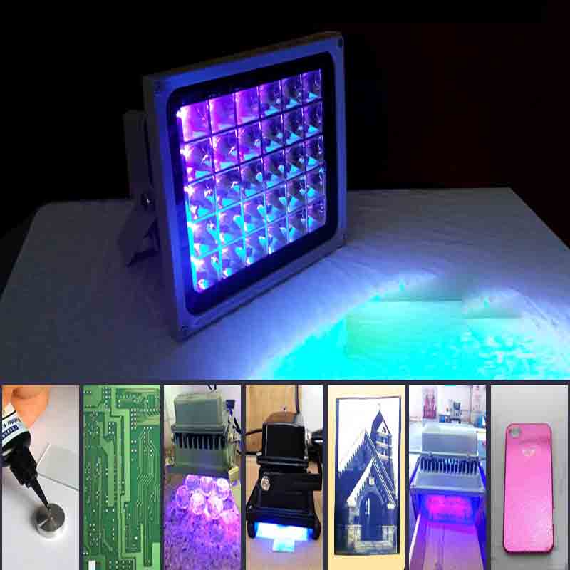 UV curing lamp LED UV schaduwloze lamp 365nm 395nm 405nm afdrukken blootstelling bankbiljet mobiele telefoon screen glas bonding groene olie