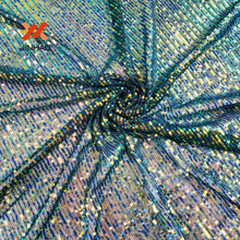 100% Polyester Sequin Fabric 1yard Colorful Stretch Mesh Wedding Hotel