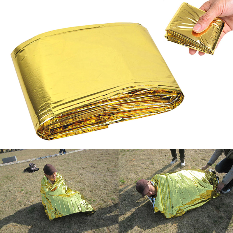 Outdoor Equipment Emergency Insulation Blanket Shelter For Self Help Camping Portable First Aid Curtain Camping Blacket