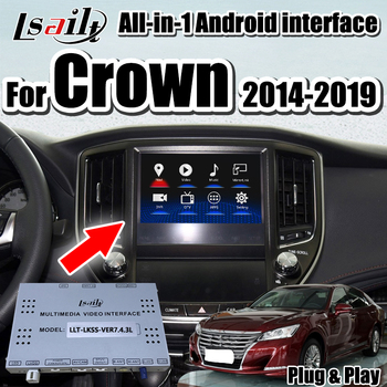 Android 7.1 GPS Navigation Box video interface  for Crown Toyota 2014-2019 support wireless Iphone/Android carplay by Lsailt
