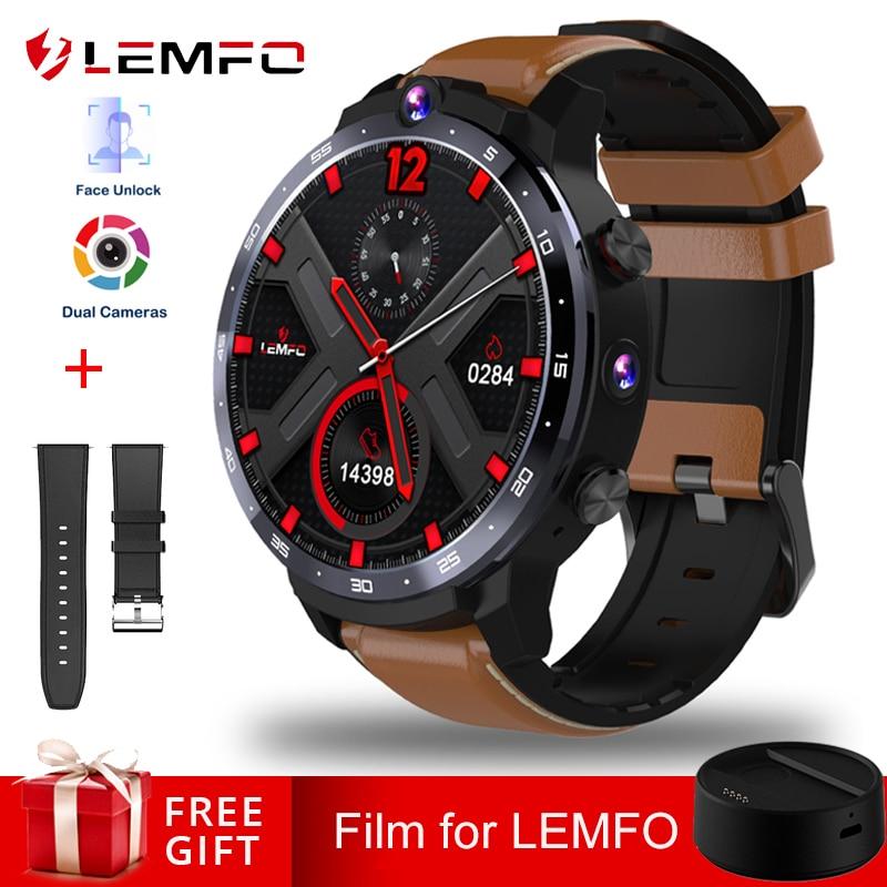 LEMFO LEM12 Dual Camera Face Unlook 1 6 Inch 4G Smart Watch Android 7 1 3GB 32GB 1800mah Battery Men Smartwatch Women in stock
