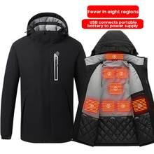 Moda inteligente aquecido jaqueta ao ar livre quente lavável jaqueta de aquecimento colete pano inverno acampamento caminhadas caça quente esporte jaqueta