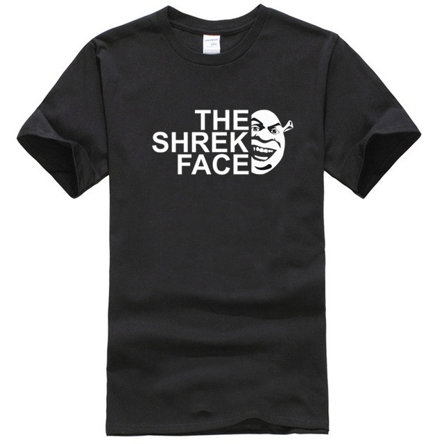 The Shrek Face T-Shirt, Fantasy Adventure Movie Inspired Spoof Tee Top image