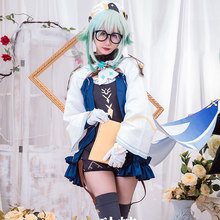 Game Genshin Impact Harmless sweetness SUCROSE Cosplay Costume Women Cute Dress Top Pants Halloween Carnival Uniform Custom Made